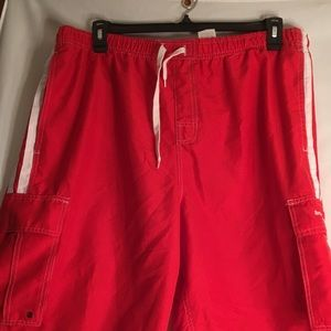 Beverly Hills Polo Club Mens Sz 2X Red White Cargo